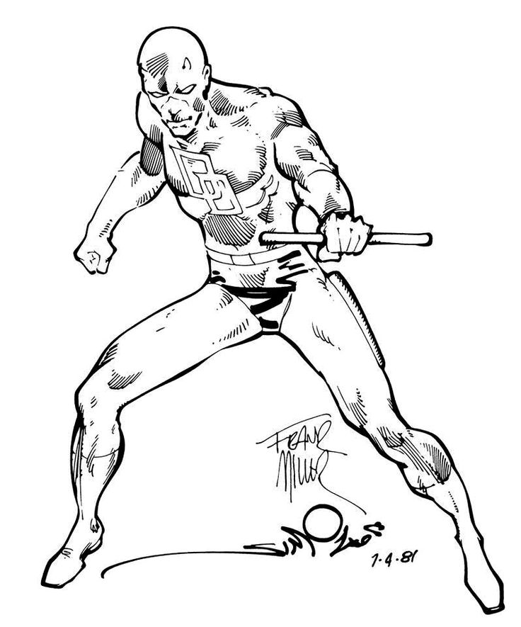 736x885 Marvel Daredevil Images Comi On Daredevil Man Without Fear Ink