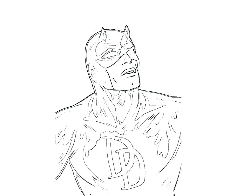 800x667 Coloring Daredevil Coloring Pages