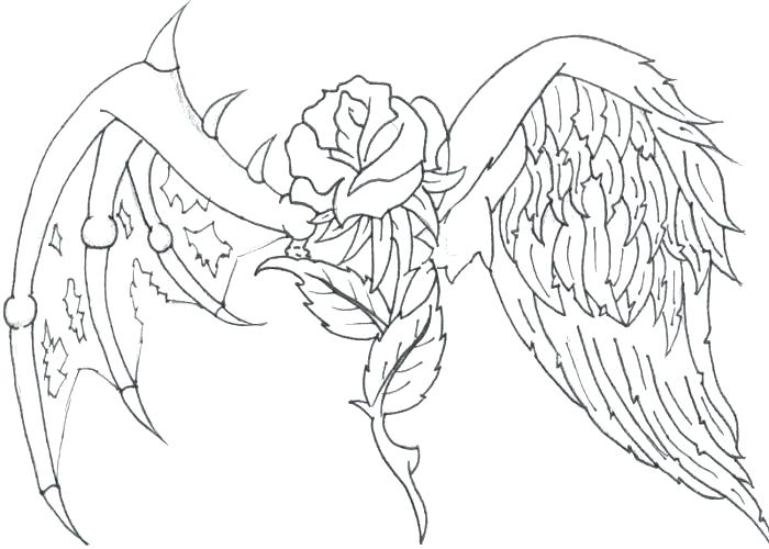 Dark Angel Coloring Pages At Getdrawings Com Free For