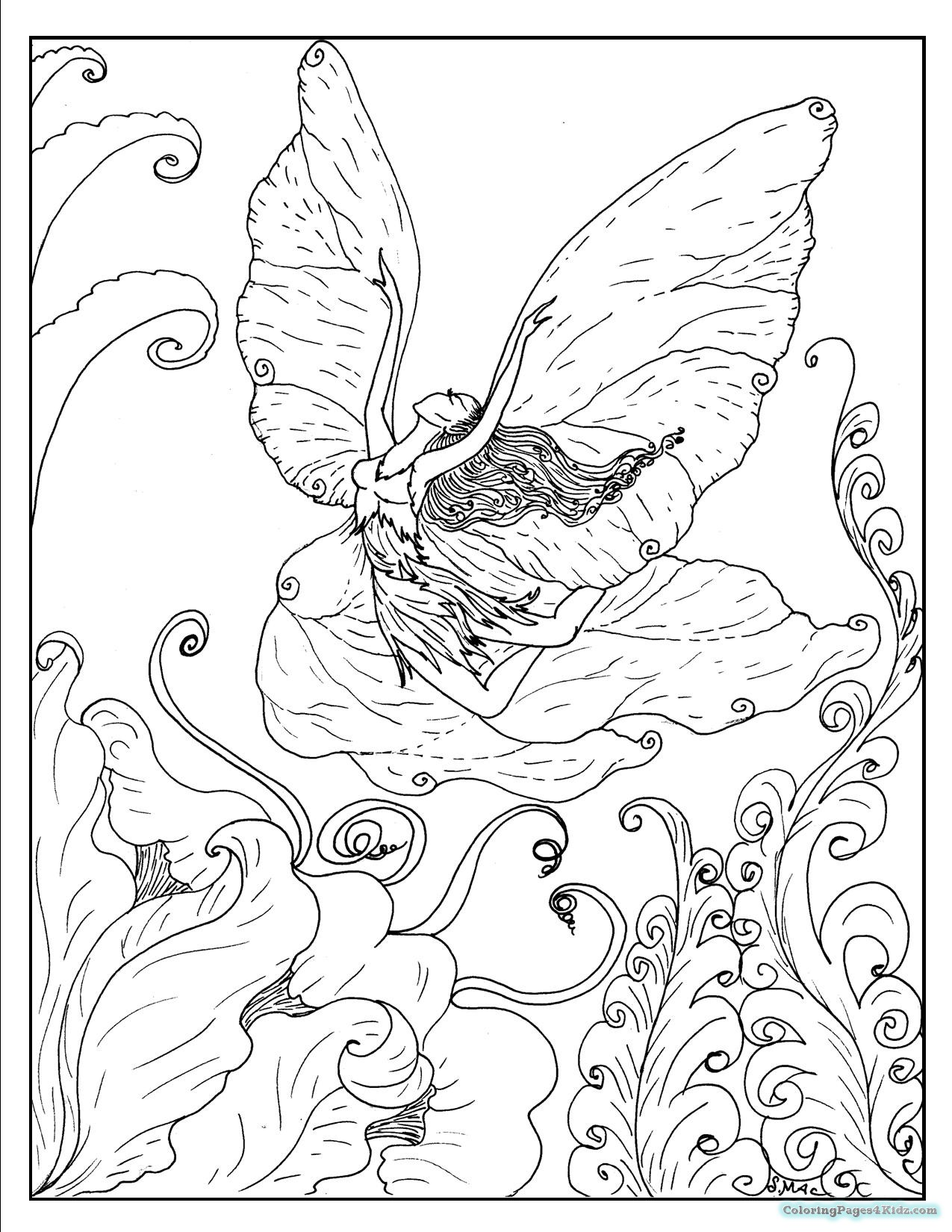 1275x1650 Fantasy Coloring Pages Adult Dark For Kids