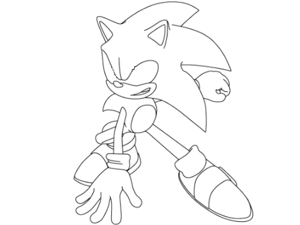 1024x768 Immediately Dark Super Sonic Coloring Pages Pa