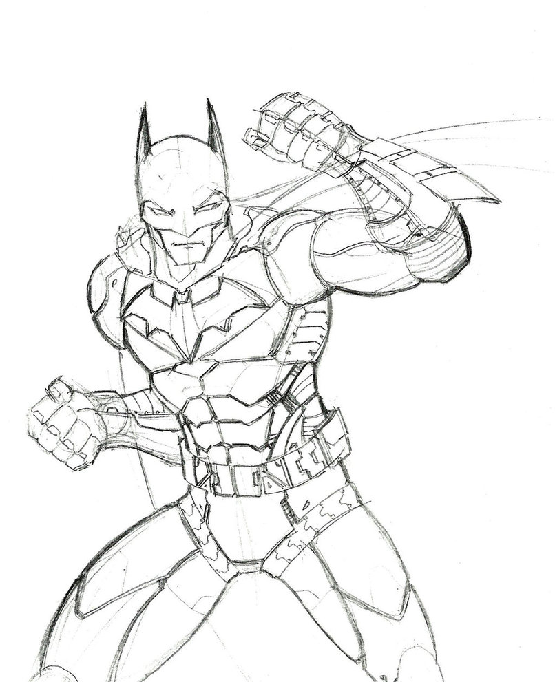 806x991 Survival Batman Arkham Knight Coloring Pages Drawing