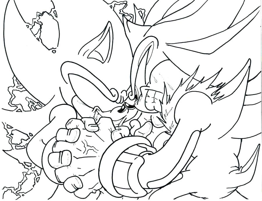 900x690 Coloriage Sonic The Hedgehog Dark Super Sonic Coloring Pages Pics