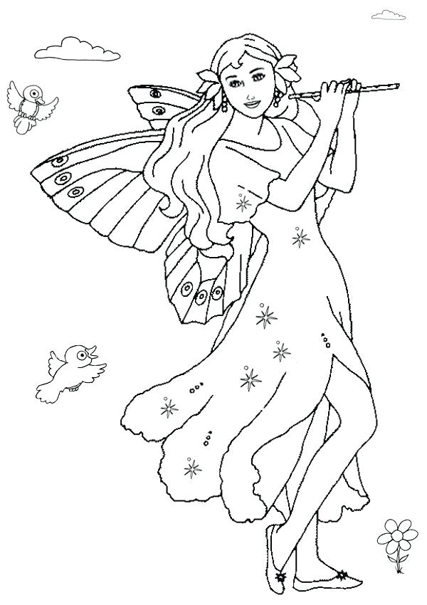 600x850 Free Printable Fairy Coloring Pages For Kids Fairies Coloring
