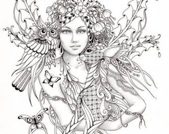 340x270 Gothic Fairy Coloring Pages