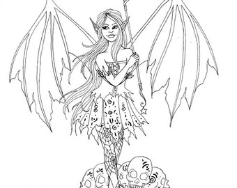 340x270 Halloween Coloring Page Fairy Coloring Page Printable