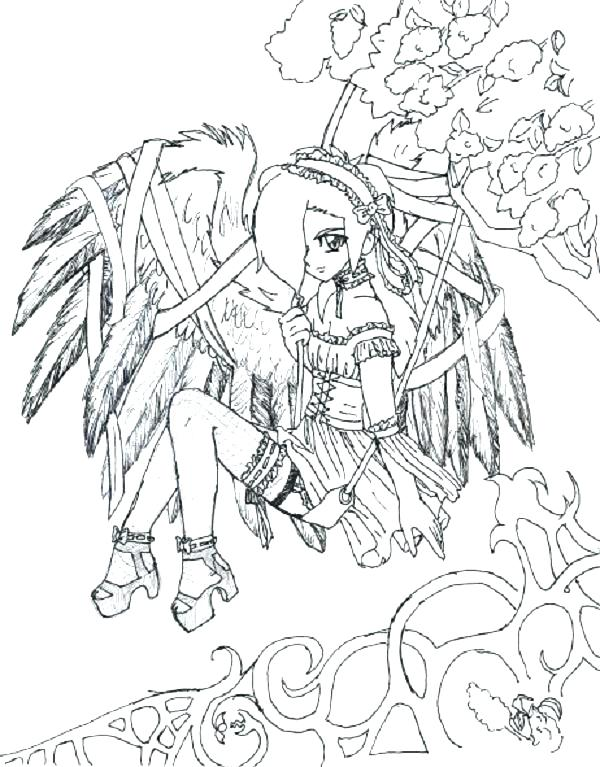 600x767 Interesting Goth Coloring Pages Cross Coloring Pages Extraordinary