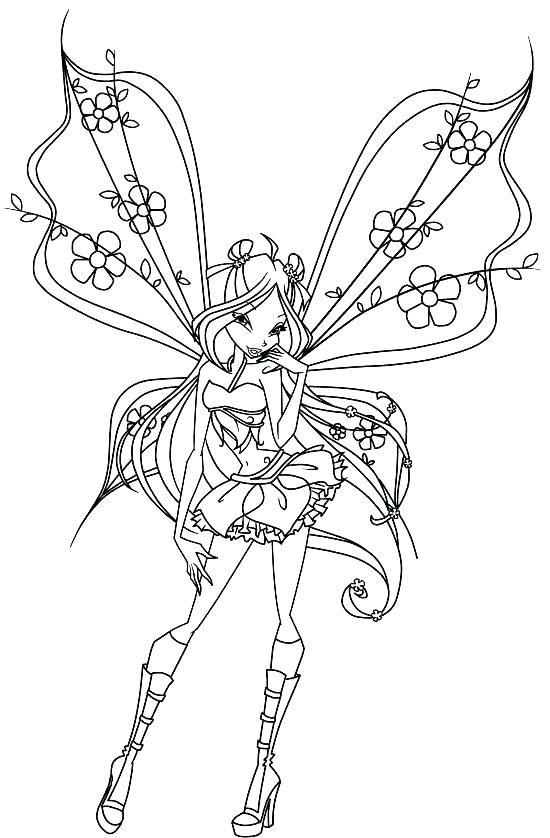 550x838 Tooth Fairy Coloring Pages Printable Image Photo Album Adult Free