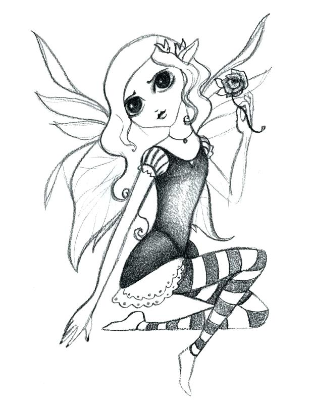618x800 Astounding Surprising Gothic Fairy Coloring Pages Print Colouring