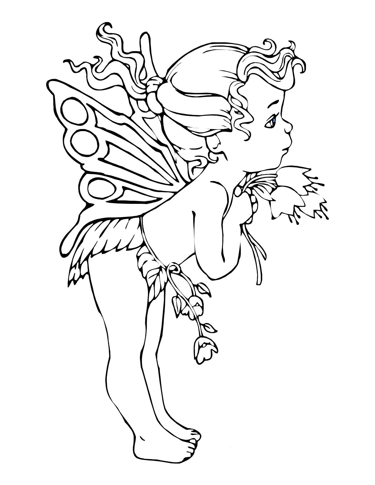 1275x1650 Dark Fairy Coloring Pages Download Coloring For Kids