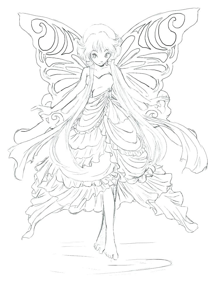 736x1020 Detailed Fairy Coloring Pages Lovely Fairy Printable Coloring