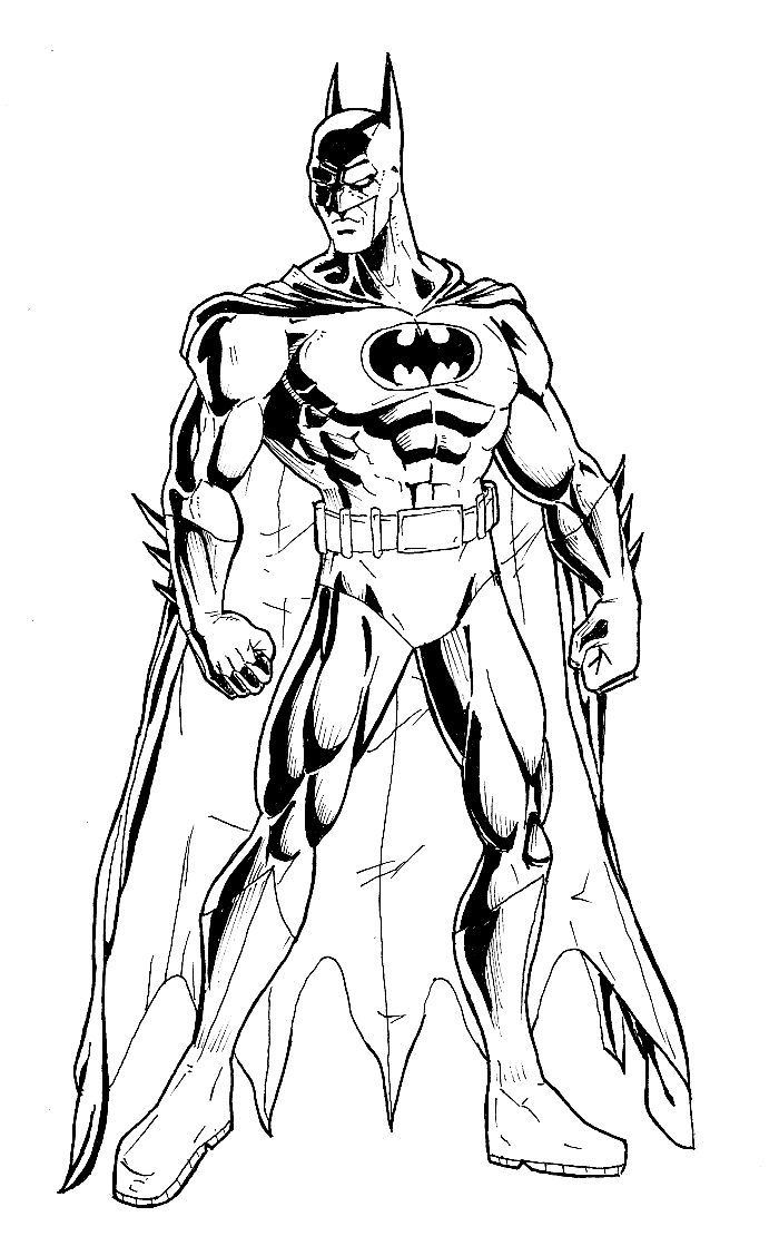 700x1119 Dark Knight Batman Coloring Pages The Dark Knight Inked Phil Cho