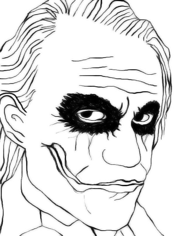 600x801 Dark Knight Coloring Pages