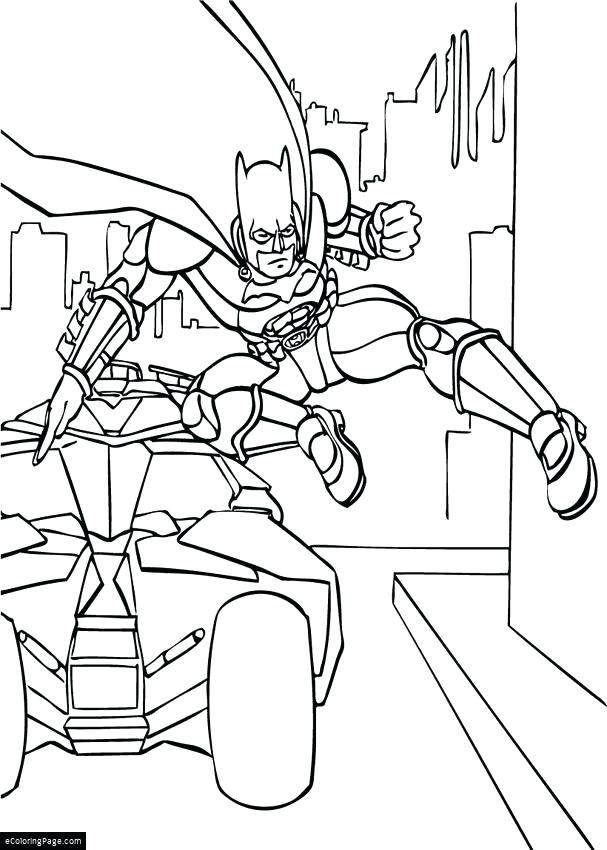 607x850 Dark Knight Coloring Pages Dark Knight Batman Jumps Out