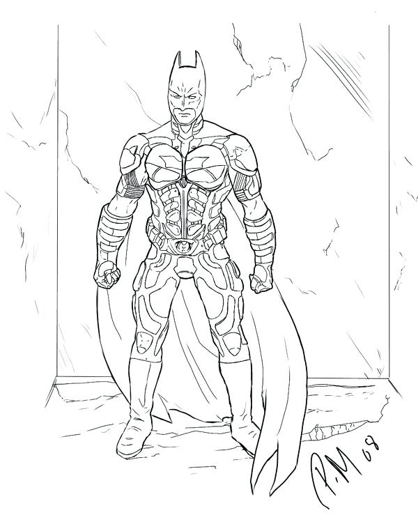 600x739 Batman Dark Knight Coloring Pages To Print