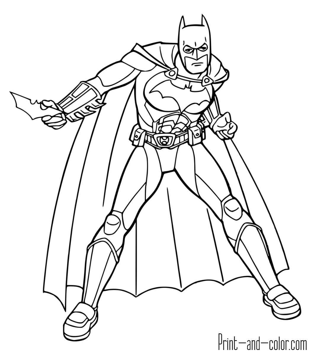 1050x1200 Batman Coloring Pages Print