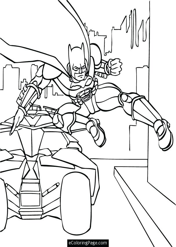 607x850 Dark Knight Coloring Pages Batman The Dark Knight Coloring Pages