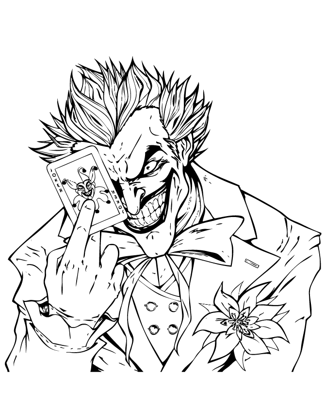 670x867 Joker Coloring Pages Collection