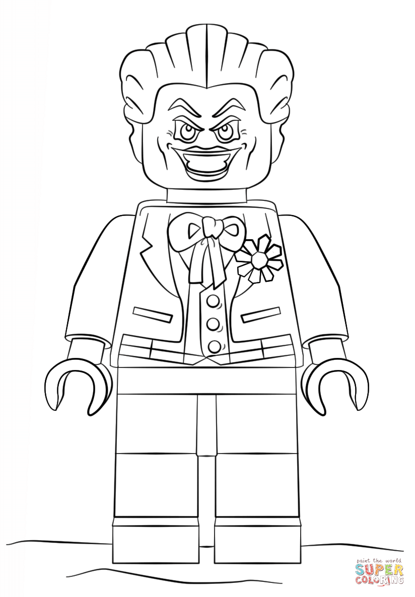 824x1186 Lego Joker Coloring Page On Pages