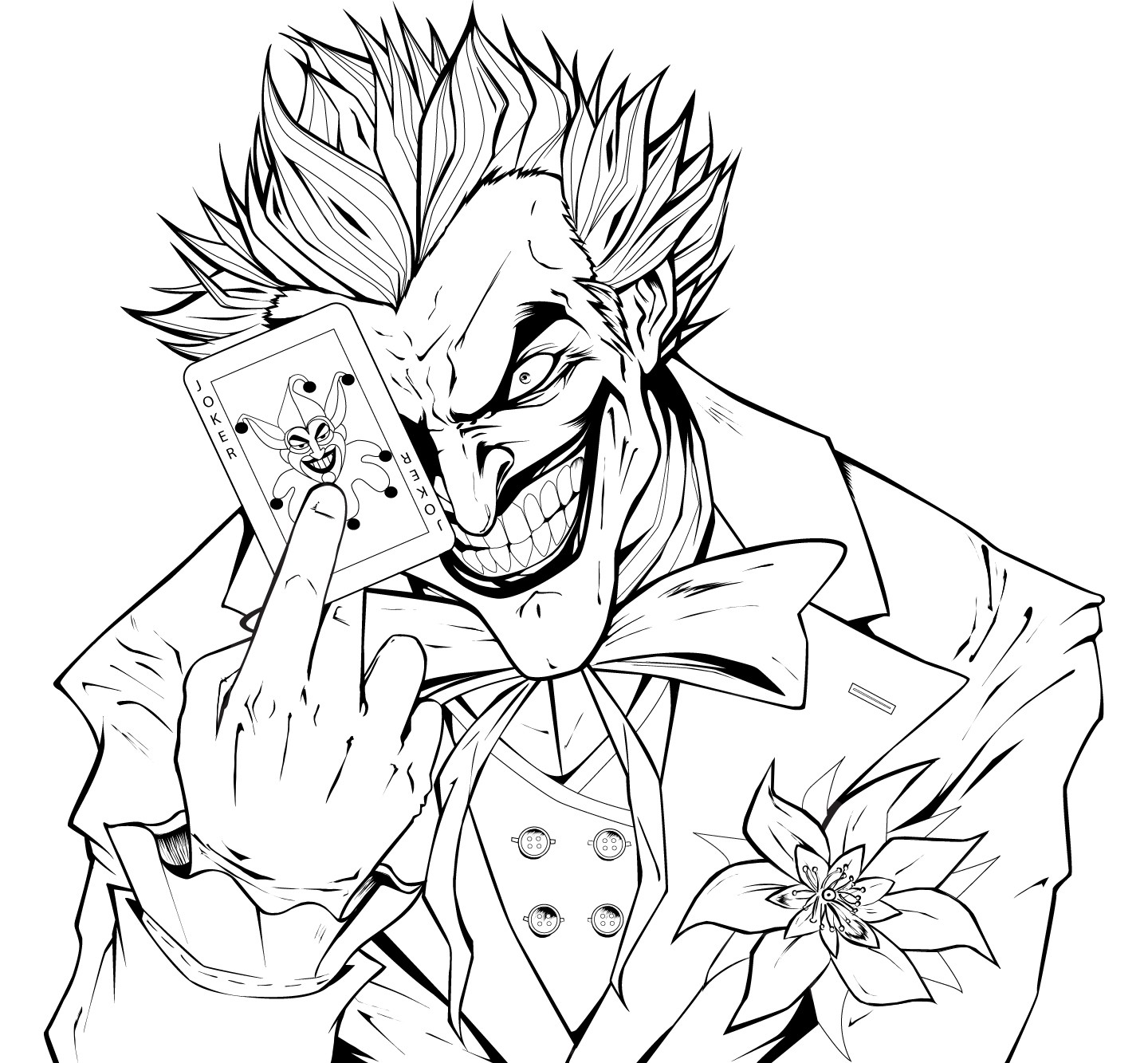 1440x1333 Batman And Joker Coloring Pages