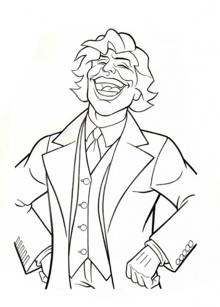 736x1024 The Laughing Joker Coloring Page To Print For Free Famous People
