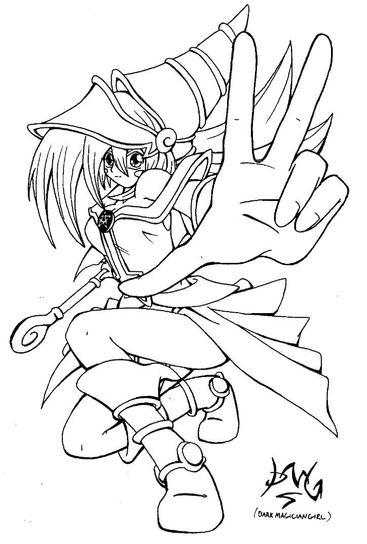 724x1072 Yu Gi Oh Dark Magician Girl Drawings