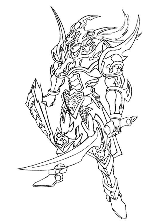570x760 Yu Gi Oh The Enemy Will Attack With Swords Coloring Page Kids