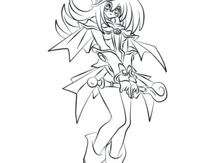 440x330 Yugioh Coloring Pages Free Oh Dark Macian Rl From Page