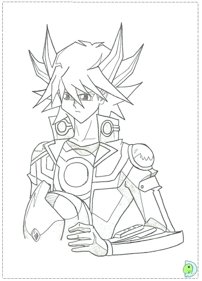691x960 Yugioh Coloring Page Girl Red