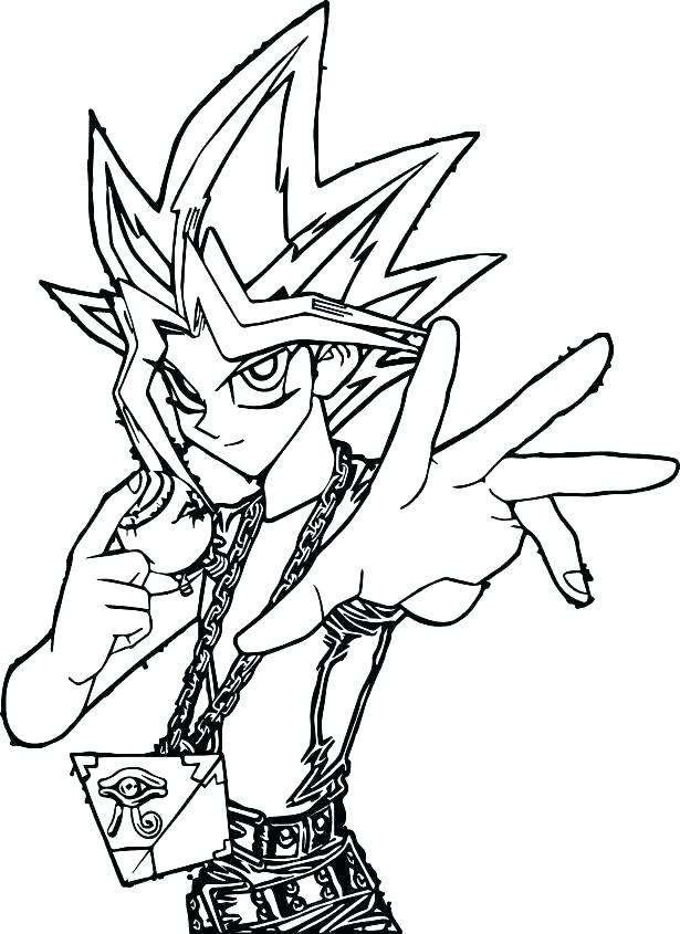 615x845 Yugioh Coloring Page Rl Drawings Oh Anime Art Kids Colouring Adult