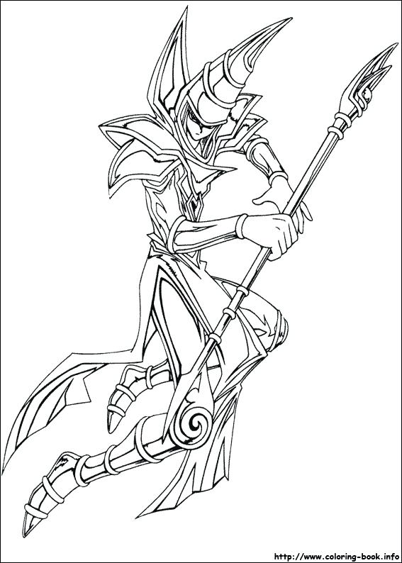 567x794 Yugioh Coloring Pages Index Coloring Pages Yugioh Dark Magician