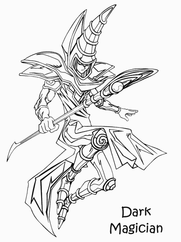 600x800 Dark Magician Coloring Pages