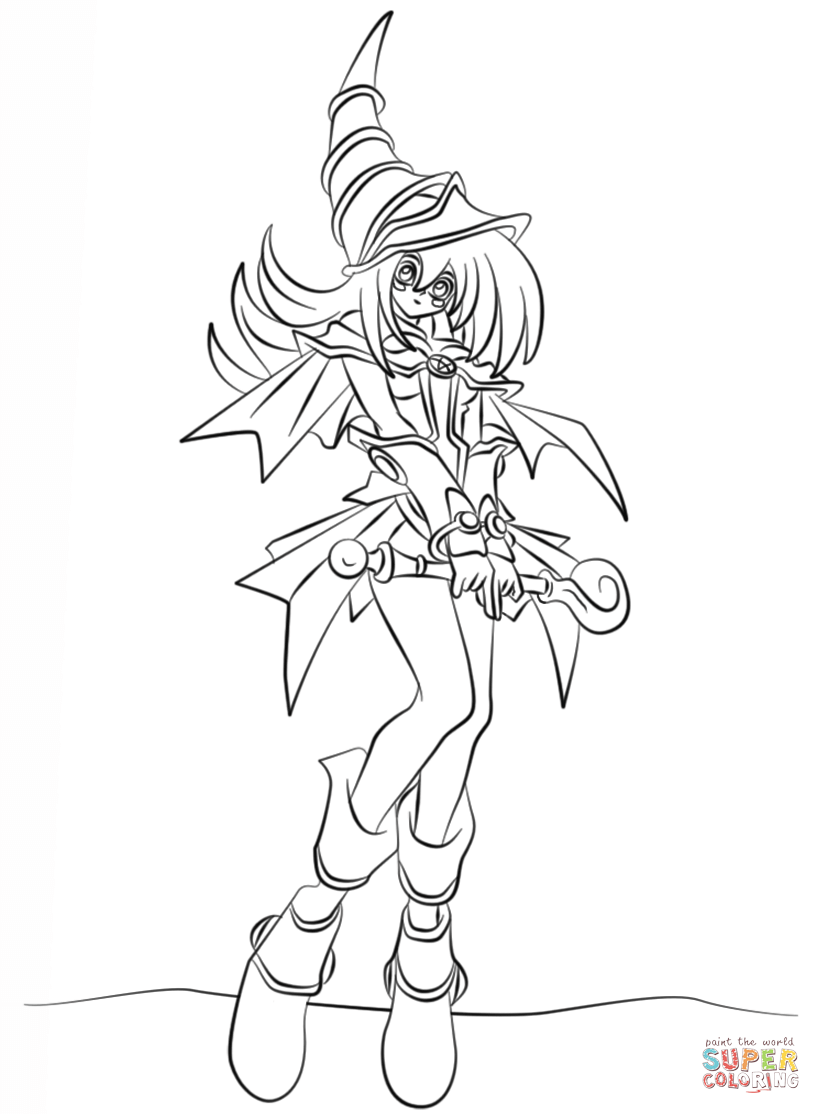 821x1114 Dark Magician Girl Coloring Pages Printable