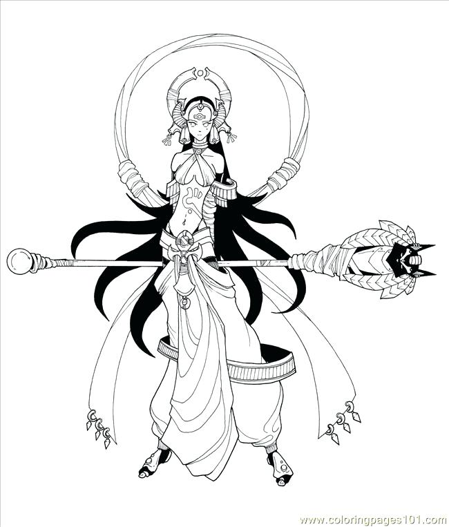 650x763 Yugioh Coloring Page Girl Red