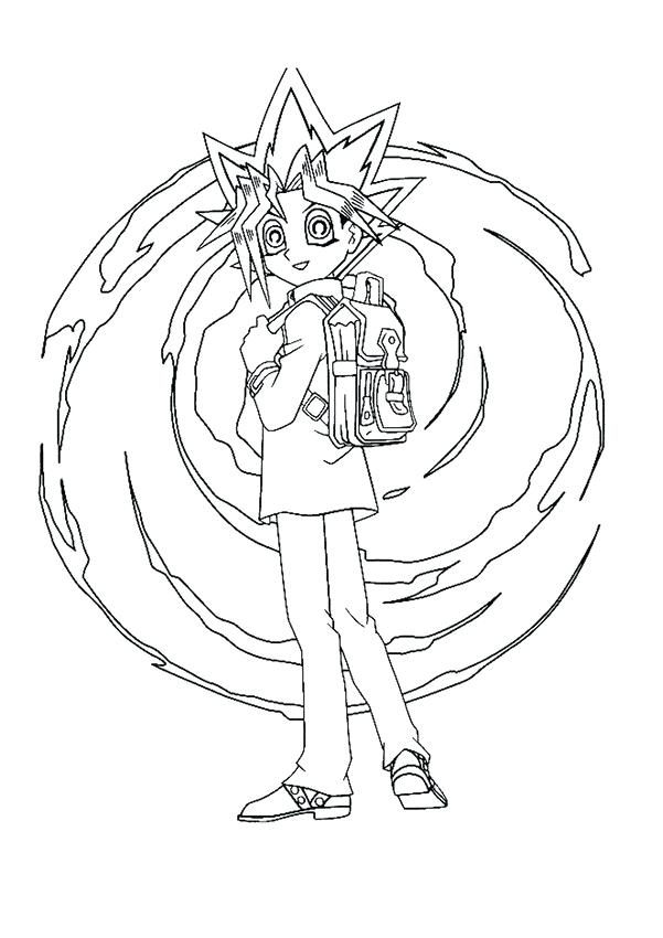 601x850 Yugioh Coloring Pages