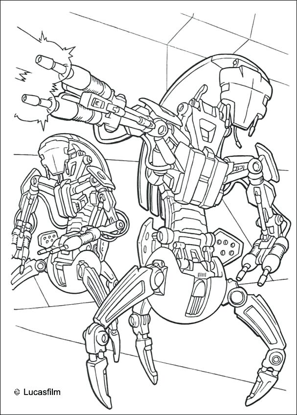 607x850 Darth Maul Coloring Pages Robots Coloring Page Movie Coloring