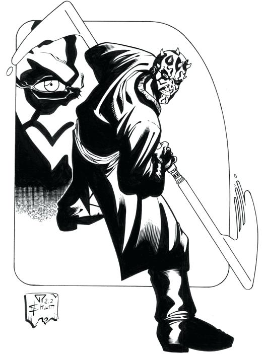 526x705 Darth Maul Coloring Pages Stars Wars Coloring Pages Star Wars Free