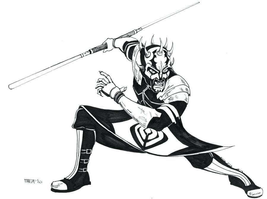 900x673 Darth Maul Face Coloring Page Printable Coloring Star Wars