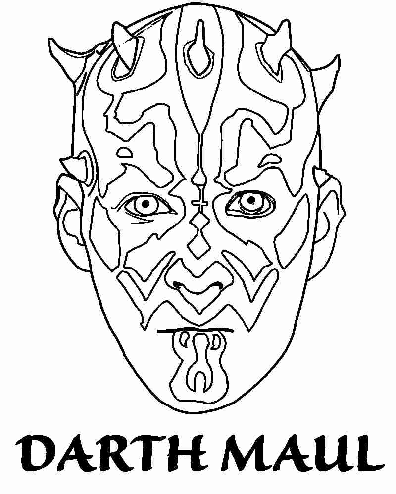 800x999 Lovable Darth Maul Coloring Page Artsybarksy For Alluring Pages