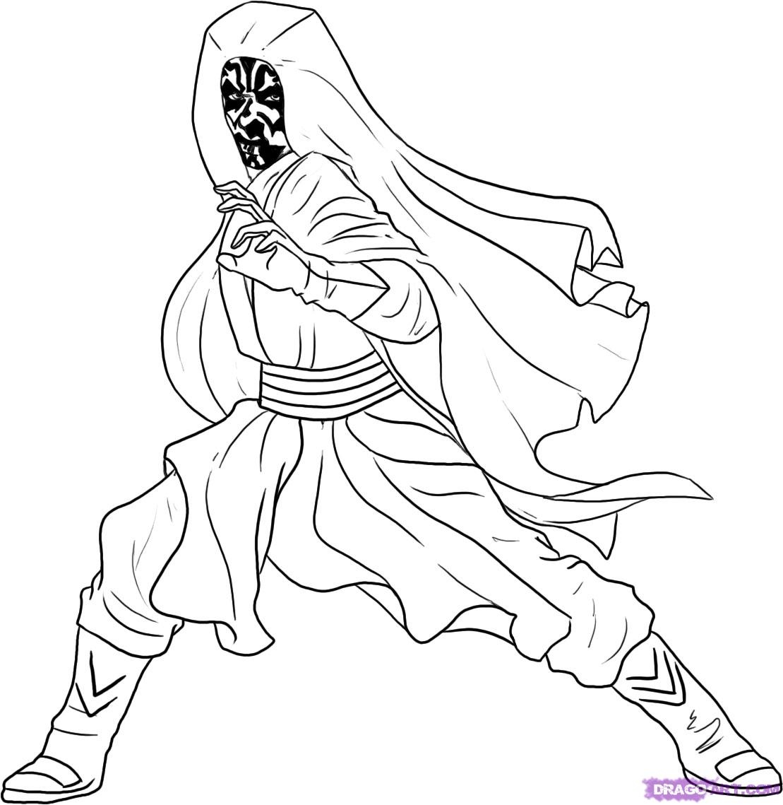 1109x1139 Darth Maul Coloring Page Best Of How To Draw Darth Maul Step