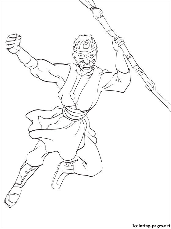 560x750 Star Wars Darth Maul Coloring Page Coloring Pages