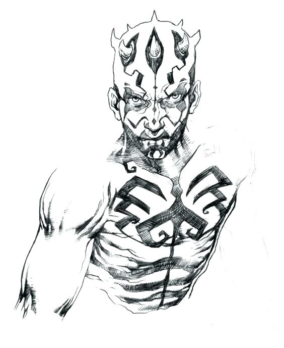 564x689 Darth Maul Coloring Pages