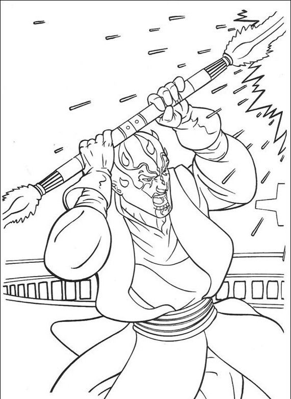571x782 Star Wars Coloring Pages Darth Maul Coloring Page Star Wars