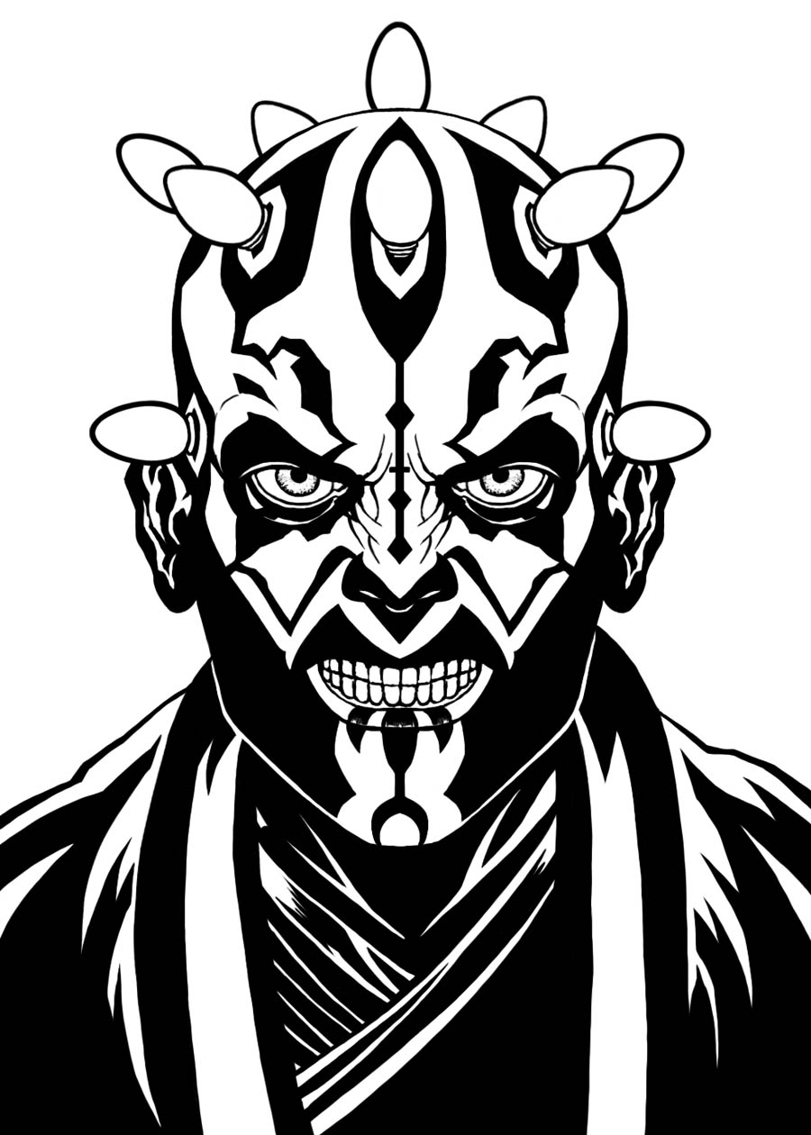 900x1260 Darth Maul Coloring Pages