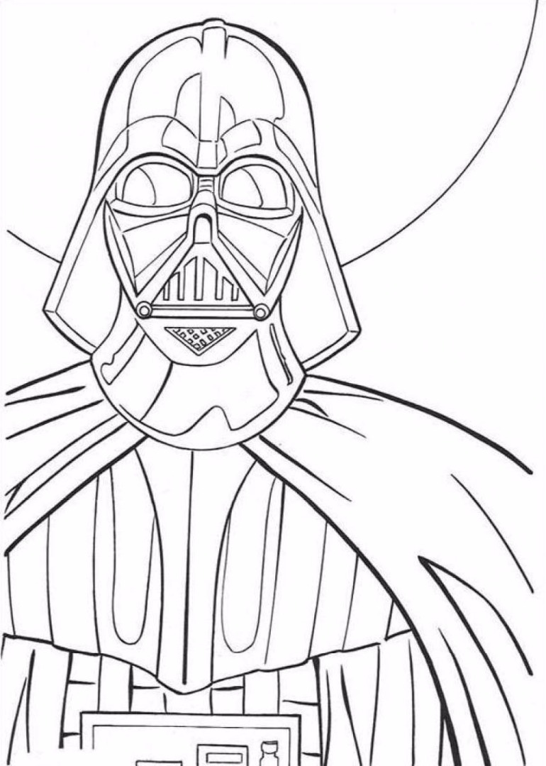 770x1080 Darth Vader Coloring Pages