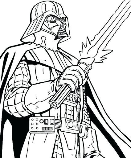 425x510 Star Wars Darth Vader Coloring Pages Printable