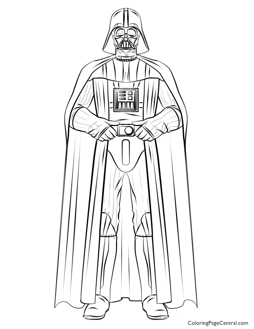 850x1100 Star Wars Darth Vader Coloring Page Coloring Page Central