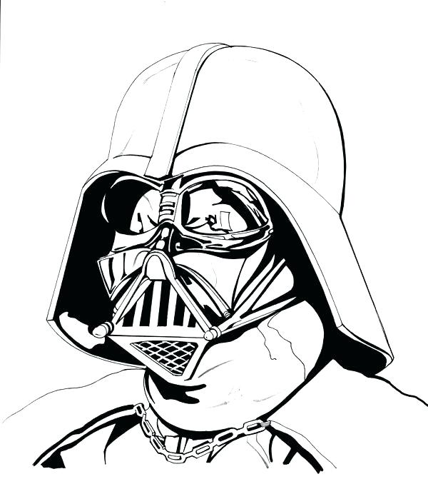 600x671 Darth Vader Coloring Pages