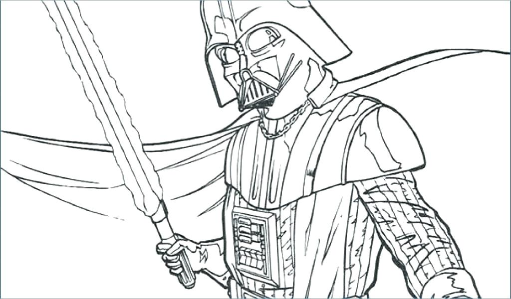 1024x600 Darth Vader Coloring Page Icontent