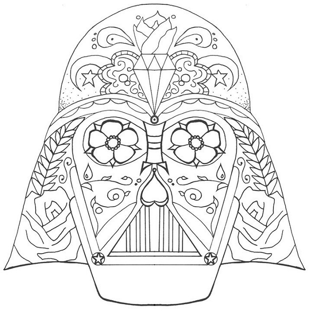 634x640 Darth Vader Coloring Pages Printable Coloring Pages For Kids